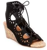 dv Women's Marybeth Laser Cut Cork Wedge Gladiator Sandals
