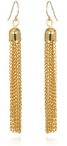 Vintage Chain Tassel Earrings, Gold