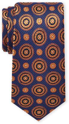 Ted Baker Orange & Navy Medallion Tie
