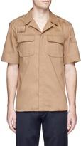 Neil Barrett Short sleeve cotton safari shirt