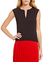 Armani Exchange Core Textured Shell Sleeveless Top