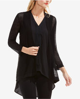 Vince Camuto Perforated Open-Front Cardigan