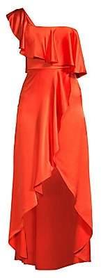 Alexis Women's Ruffled Silk High-Low Dress