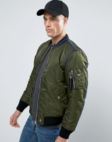 Diesel J-HOWLER Denim Edge Padded Bomber Jacket