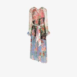Zimmermann Bellitude spliced floral silk midi dress