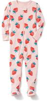 Old Navy Strawberry-Patterned Footed Sleeper for Toddler & Baby