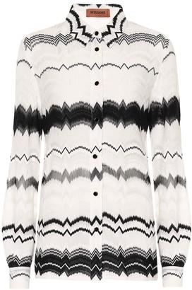 Missoni Cotton-blend knit shirt