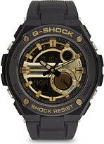 G-shock Gst-210b-1a9er G-steel Black & Gold Analogue Digital Watch
