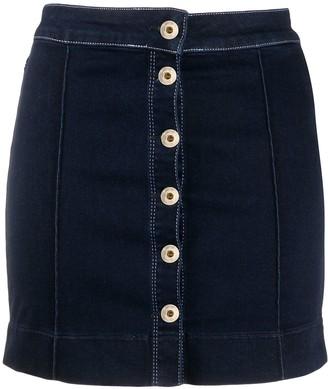 Patrizia Pepe Buttoned Mini Denim Skirt