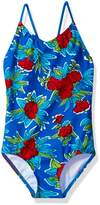 Kanu Surf Big Girls' Krista Floral 1-Pc Swimsuit