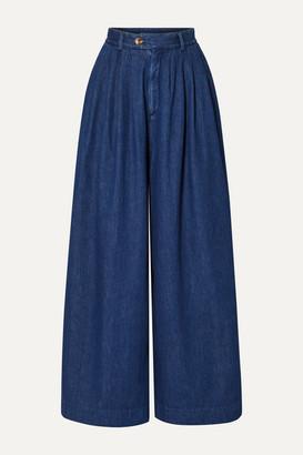 KING & TUCKFIELD High-rise Wide-leg Jeans - Mid denim