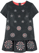 Little Marc Jacobs Mini Me embroidered satin dress