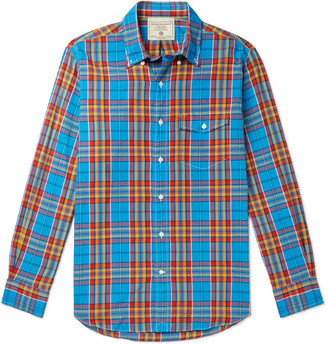 J.Press Button-Down Collar Checked Cotton Shirt