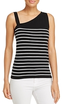 Avec Striped One-Shoulder Top