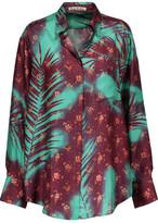 Acne Studios Addle Printed Silk-Satin Twill Shirt
