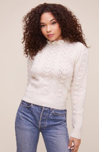ASTR the Label The Sally Sweater In Cream - XS