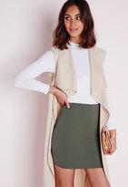 Missguided Petite Khaki Scuba Mini Skirt