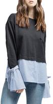 Blu Pepper Sweater Detail Top