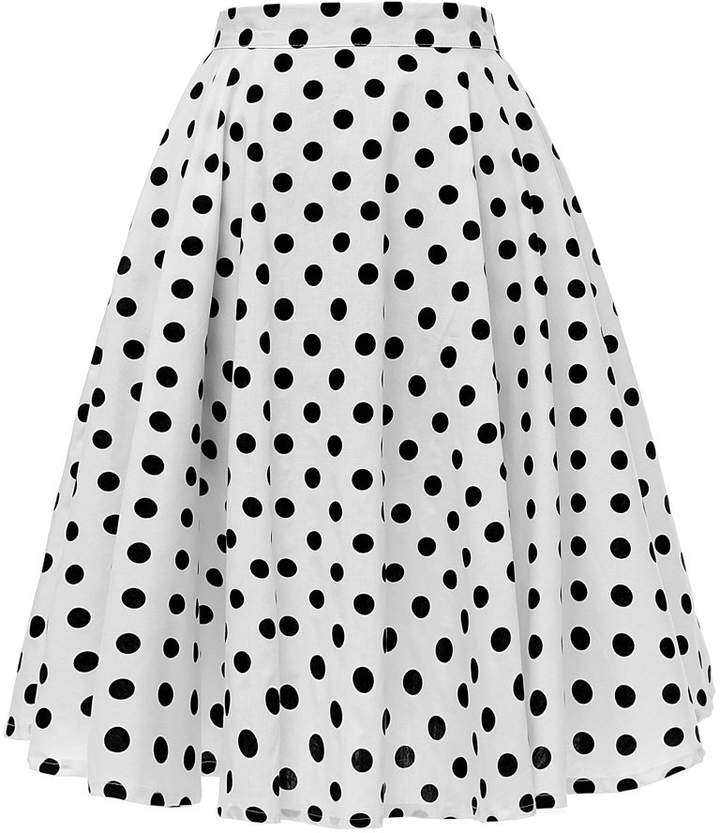 cef2302b446ab2 Black And White Polka Dot Skirt - ShopStyle Canada