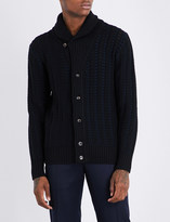 Brioni Shawl-lapel wool cardigan