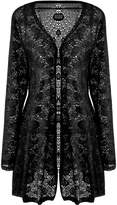 Meaneor Women's Long Sleeve Lace Crochet Knitted Sheer V Neck Open Front Cardigan 3XL