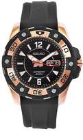 Seiko Men's SKZ274 Diver's Stainless Steel Rubber Strap Watch