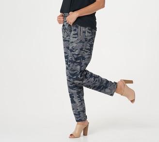 G.I.L.I. Got It Love It G.I.L.I. Camo Printed Cargo Pants with Zip Pocket Detail