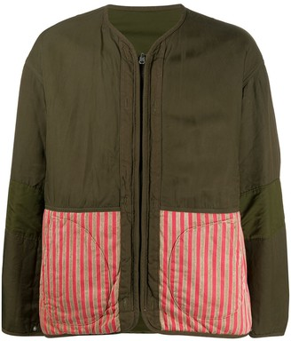 Visvim Contrast-Panel Reversible Bomber Jacket