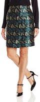 Anne Klein Women's Foldover Jacquard Skirt