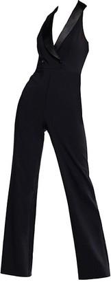 Aidan Mattox Crepe Tuxedo Jumpsuit
