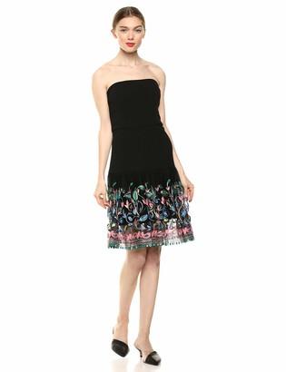 Elliatt Women's Apparel Women's Amelie Strapless Embroidered FIT & Flare Short Dress