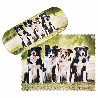 VON LILIENFELD Border Collies Glasses Case Cleaning Cloth Lightweight Stable Cute Present Dog Animal