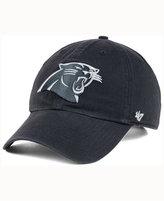 '47 Carolina Panthers Charcoal White Clean Up Cap