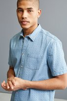 Urban Outfitters Ditsy Denim Short Sleeve Button-Down Shirt