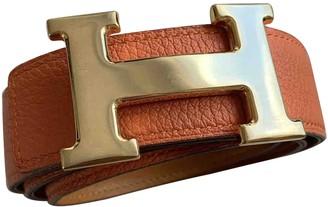Hermes H Camel Leather Belts