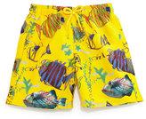Vilebrequin Jam Moon Fish Multi-Print Swim Trunks, Boys' 10-14
