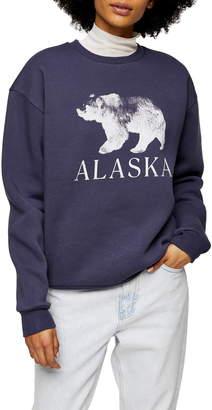 Topshop Alaska Graphic Sweatshirt