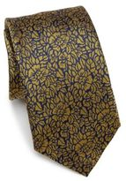 Saks Fifth Avenue COLLECTION Textured Floral Silk Tie