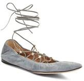 Valentino Women's Lace-Up Ballerina Flat