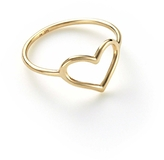 Jordan Askill Heart Outline Ring - Yellow Gold