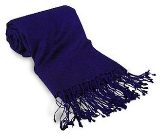 Forzieri Midnight Blue Pashmina Shawl
