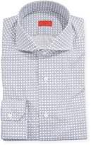 Isaia Men's Oval-Pattern Dress Shirt