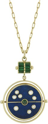 Lapis Grandfather Compass Necklace