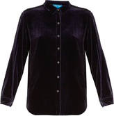 MiH Jeans Rhoda long-sleeved velvet shirt