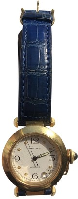 Cartier Pasha Blue Yellow gold Watches