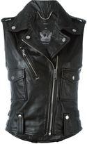 Diesel sleeveless biker jacket