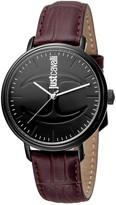 Just Cavalli Men's Quartz Leather Strap Watch