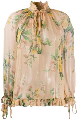 Zimmermann Neck Tie Blouse
