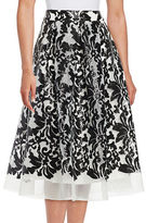 Eliza J Baroque Flared Skirt