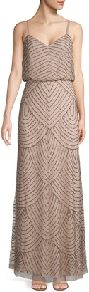 Adrianna Papell Sequined Chiffon Gown